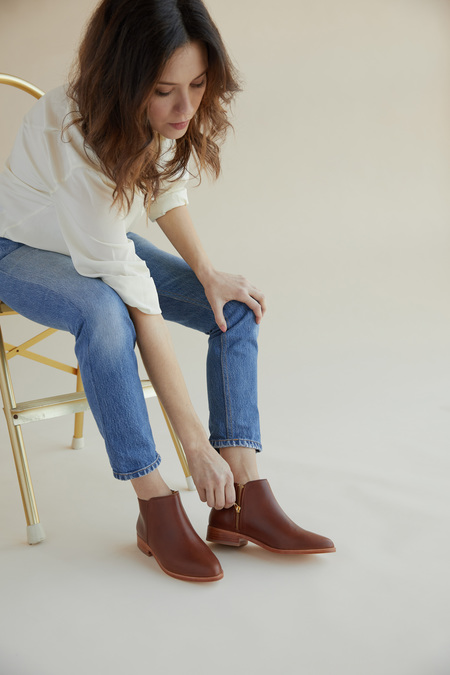 Nisolo Lana Ankle Boot - Brandy