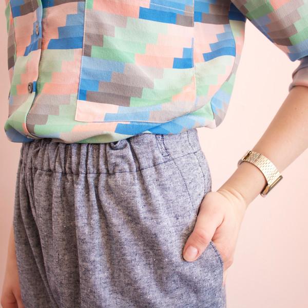 Jill Aiko Yee Garden pants - chambray