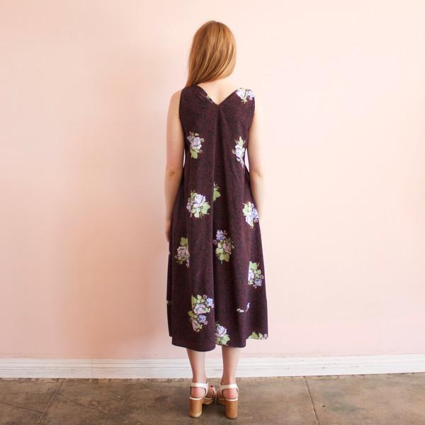 Svilu paisley rose tank dress