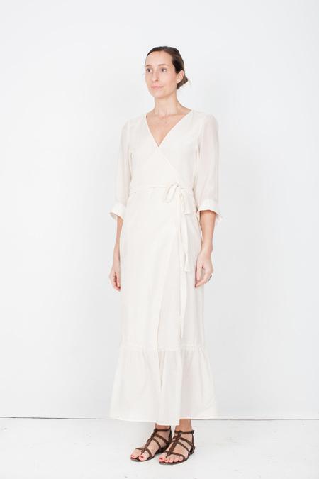 Pley Penelope Wrap Dress - Cream