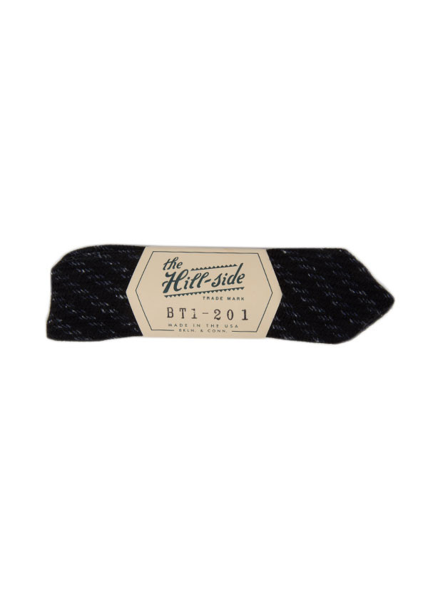The Hill-Side - Beach Cloth Stripe Bow Tie, Black and Navy