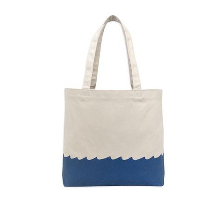 M. CARTER CO. WAVE BOTTOM TOTE - natural/Navy