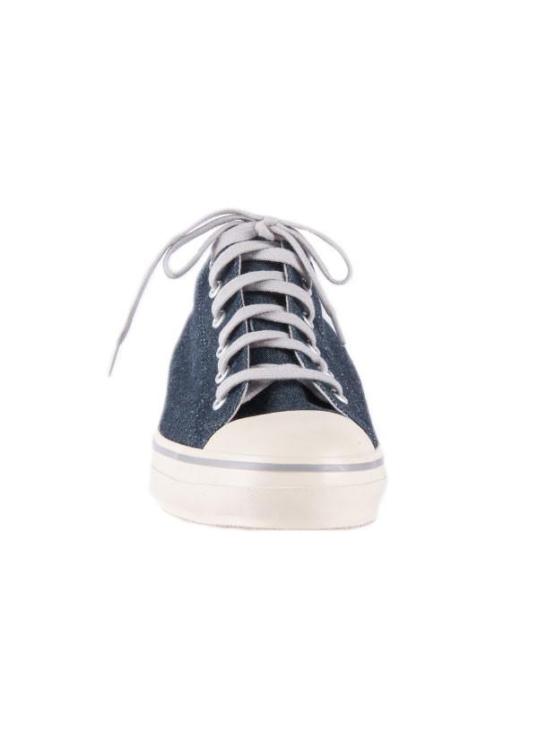 The Hill-Side - Hemp Denim Low Top Sneaker in Indigo