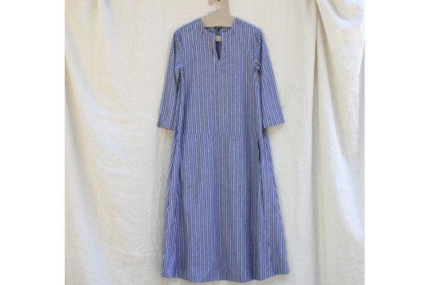 Tangier Dress in Blue Souk Stripe
