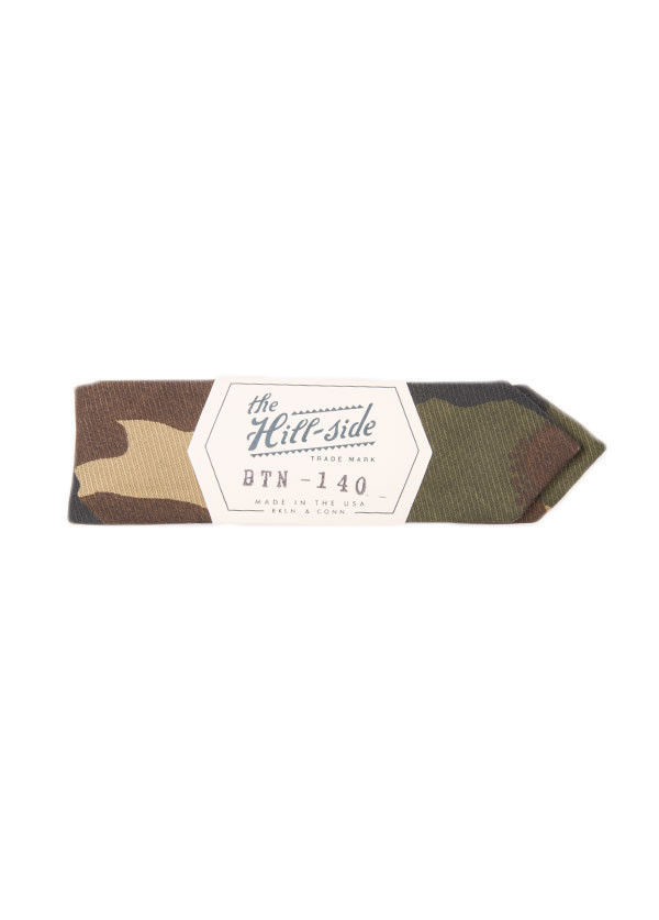 The Hill-Side - Hungarian Camouflage Print Bow Tie in Olive / Brown