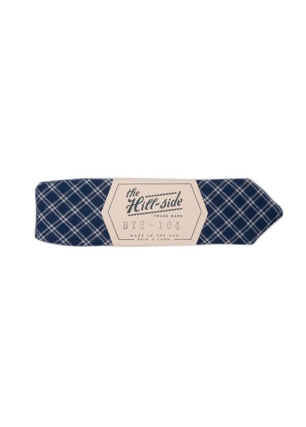 The Hill-Side - Indigo Double Windowpane Bow Tie
