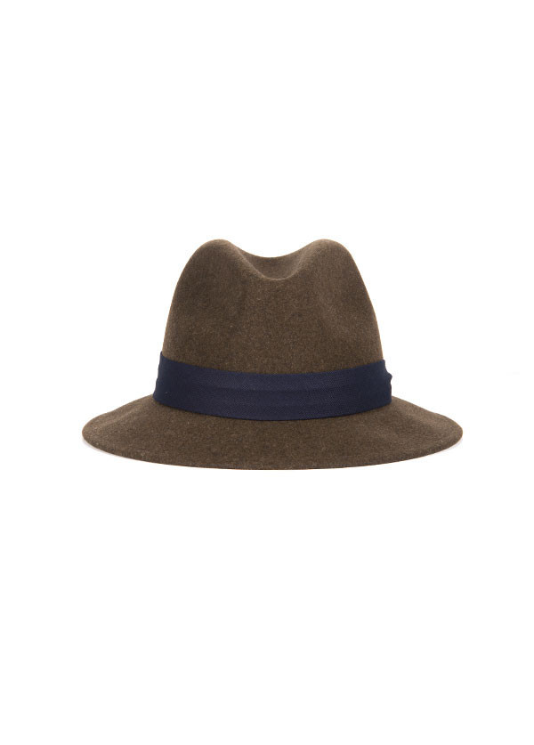 The Hill-Side - Wool Fedora in Brown
