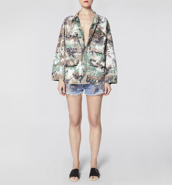 rialto jean project Make Fashion Not War Camo Jacket