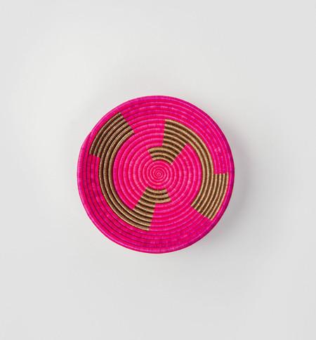 Indego Africa Geometric Plateau Basket - Pink