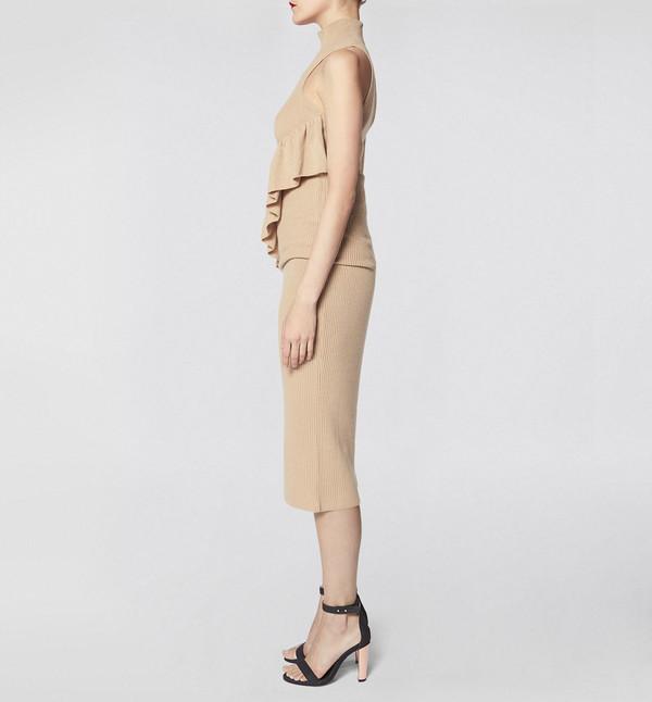 Ryan Roche Skirt Camel