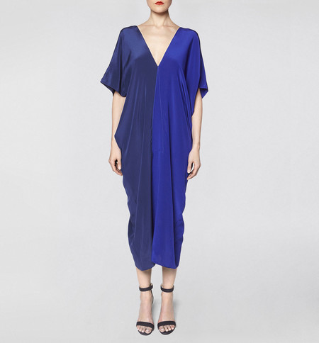 VOZ Two Panel Blue Dress