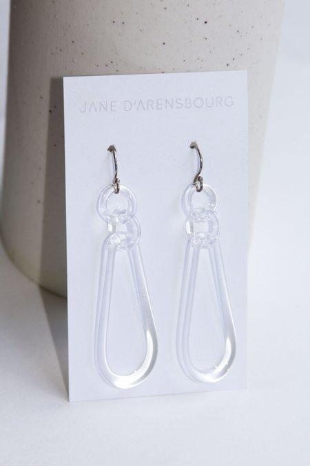 Jane D'Arensbourg Teardrop Earrings - clear