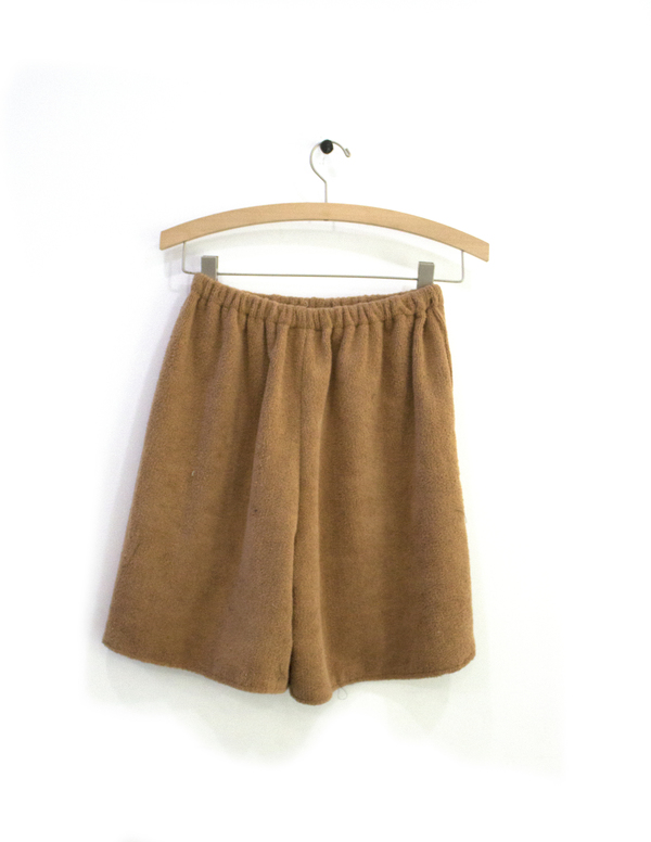 Priory Shorts Terry Camel - Sample