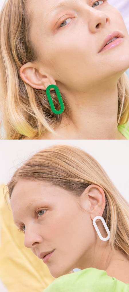 Matter Matters Acrylic Oval Earrings