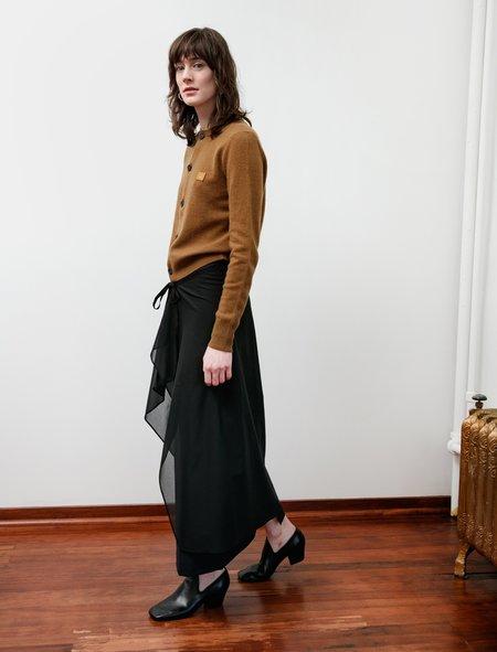 Ys by Yohji Yamamoto Double Layer Float Skirt - Black