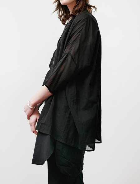Ys by Yohji Yamamoto Layered Gauze Poetry Shirt - Black