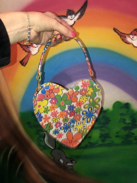 CAB Collection Heart Bag  - Flower Power
