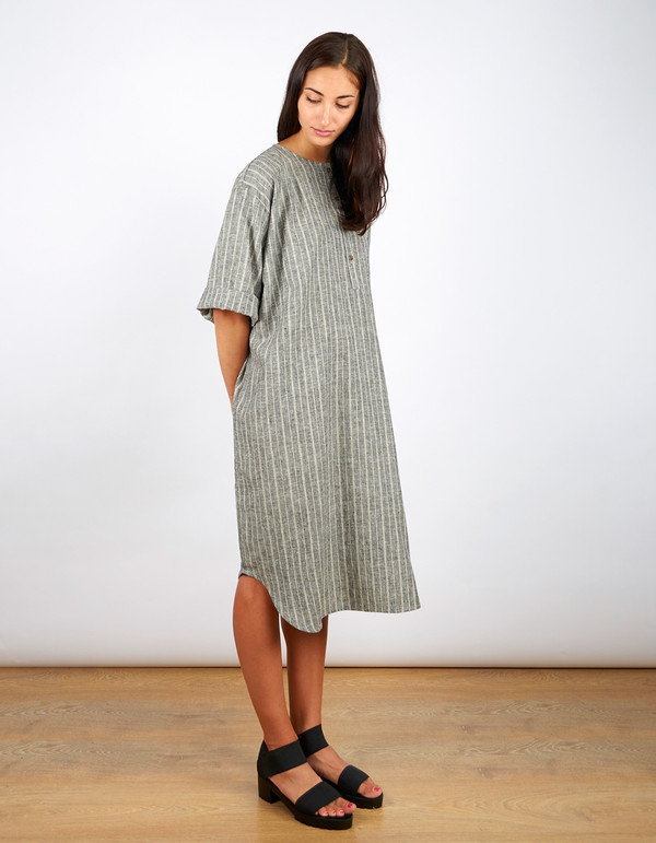 Sunja Link Lounge Tunic Black with Natural Stripe