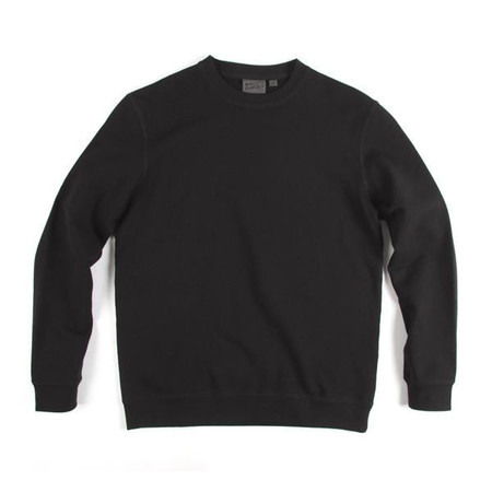 Men's Naked & Famous CREWNECK NOIR /  BLACK SLIMCREW VINTAGE DOUBLE FACE