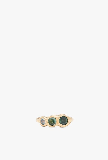 Fie Isolde Freja Ring with 3 Sapphires