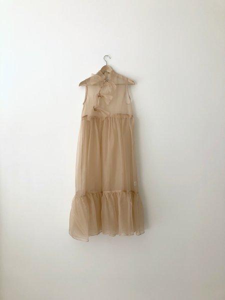 Kamperett MAE SILK ORGANZA DRESS - BLUSH
