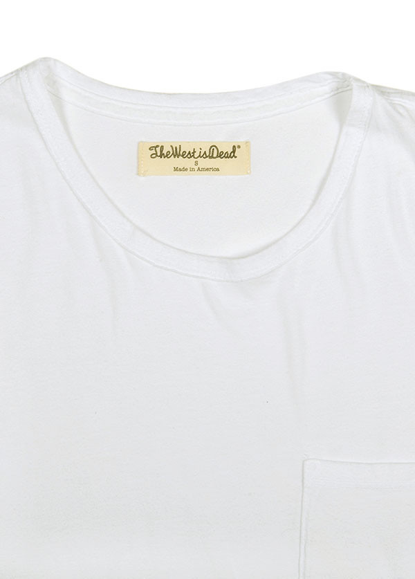 The West is Dead - Men's Pocket Tee in White