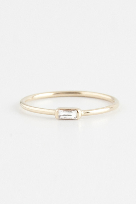 Emi Grannis Diamond Baguette Ring 14k Yellow Gold
