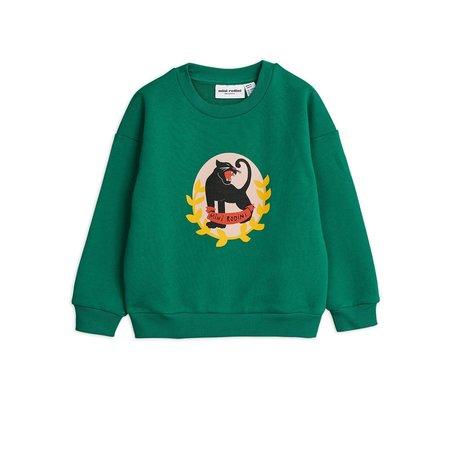 kids mini rodini badge sweatshirt - green
