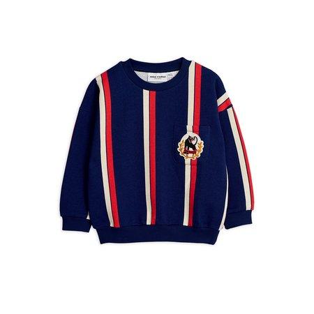 kids mini rodini stripe sweatshirt - blue