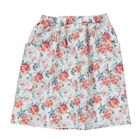 Kids piupiu chick Long Skirt - Floral Pattern