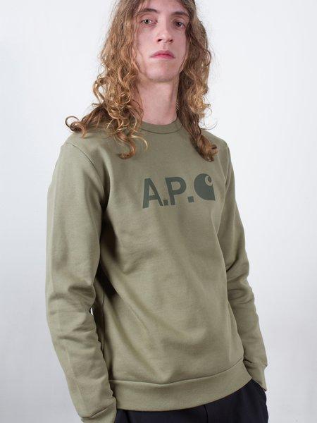 A.P.C. x Carhartt WIP Ice Sweatshirt - Khaki