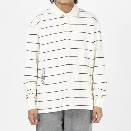 Wood Wood Beck Long Sleeve Rugby / Off-White Stripes
