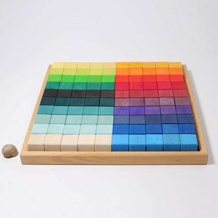 Kids Grimm's 100 Piece Set Squares Building Set Large
