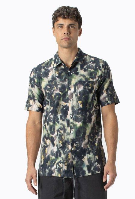 Zanerobe Foliage Short Sleeve Shirt - Moss Multi