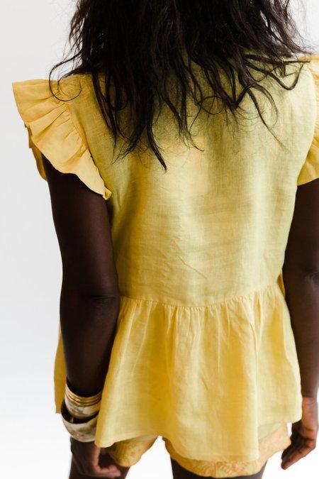 Carolina K Anna Vest Top - Sunset Yellow