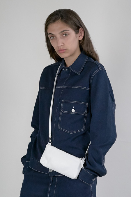 Clyde -  Monika Wallet Bag in White Leather