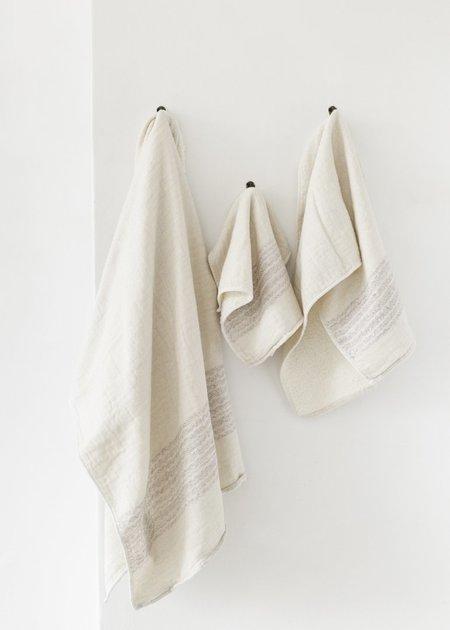 Morihata Flax Line Organics Towels - Lavender Beige