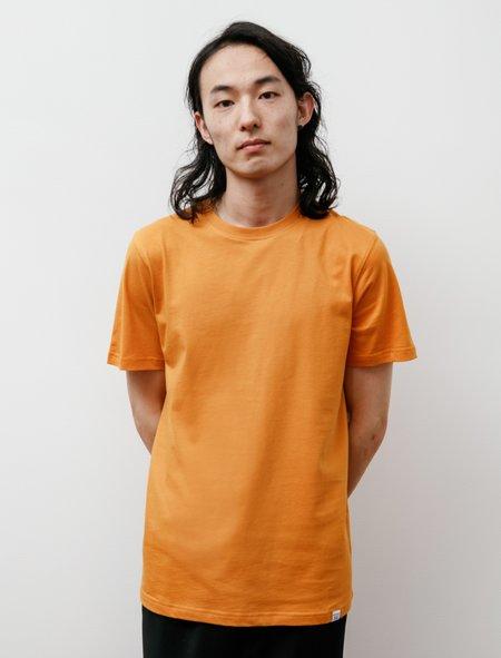 Norse Projects Niels Standard Short Sleeve T-Shirt - Cadmium Orange