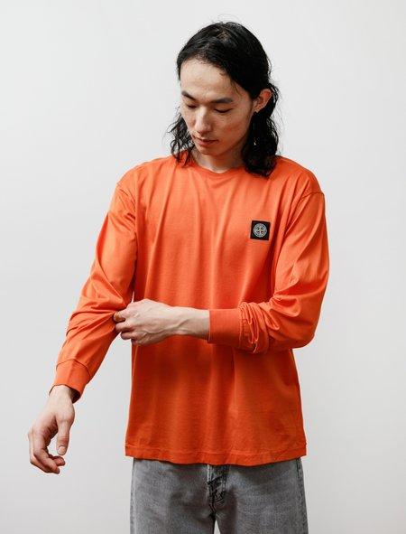 Stone Island Long Sleeve T Shirt - Orange