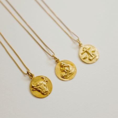 Eleventh House Zodiac Talisman - Gold Vermeil