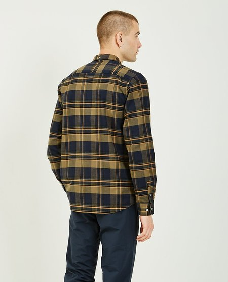 Norse Projects Anton Brushed Flannel Shirt - Green Plaid