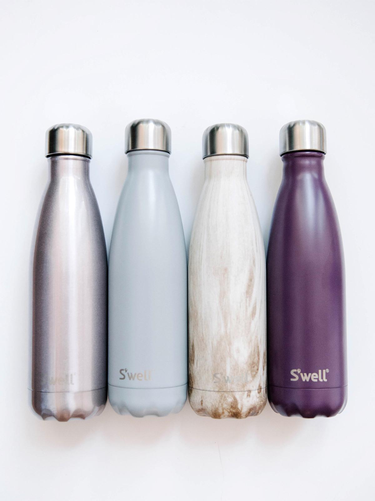 Swell water bottle 25oz su0027well 25 oz wood stainless for Swell water bottle 25oz