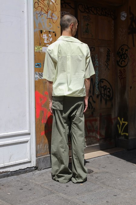 ST-HENRI Sky Collared Short Sleeve Shirt - yellow