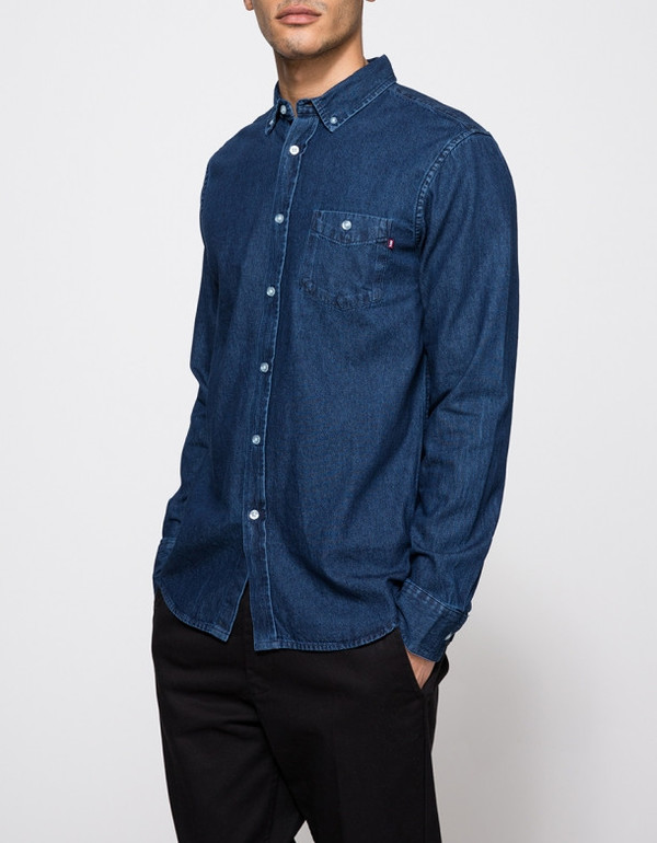 Men's Obey Keble Denim Shirt
