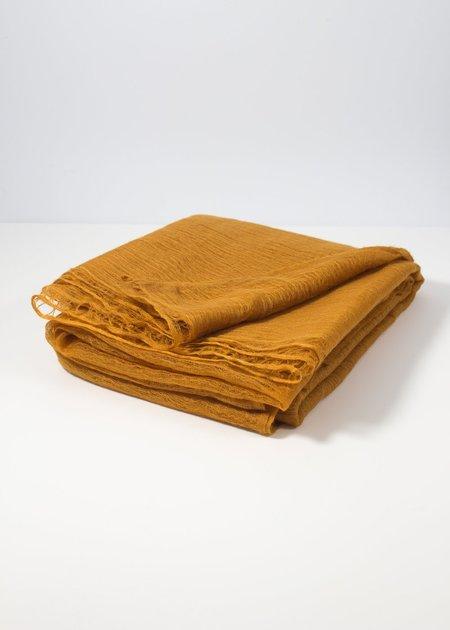 IRIS DELRUBY Flywing cashmere scarf - honey