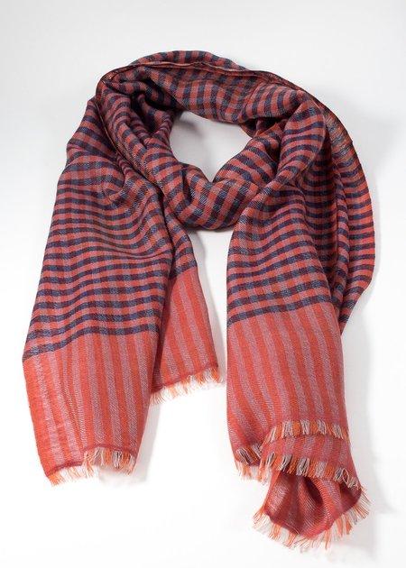 Iris Delruby Madras tiny check scarf
