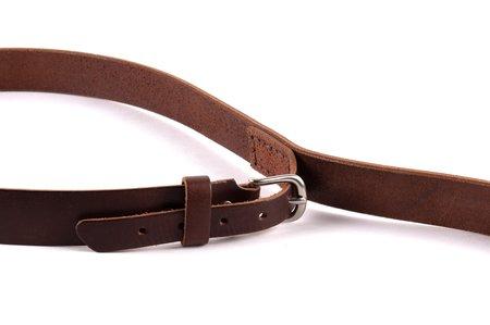 Tanner Goods Black Buckle Heritage Belt - Saddle