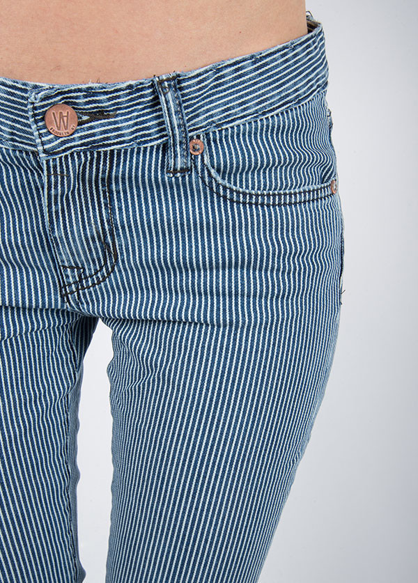 Williamsburg Garment Company - Bedford Ave Skinny in Washed Stripe