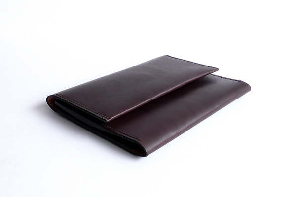 Sara Barner Large Trifold Wallet - Dark Brown