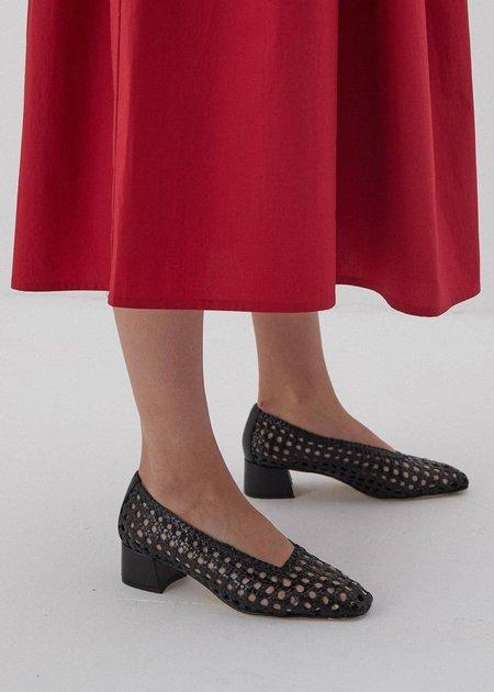 MIISTA Taissa Woven Leather Heels - black
